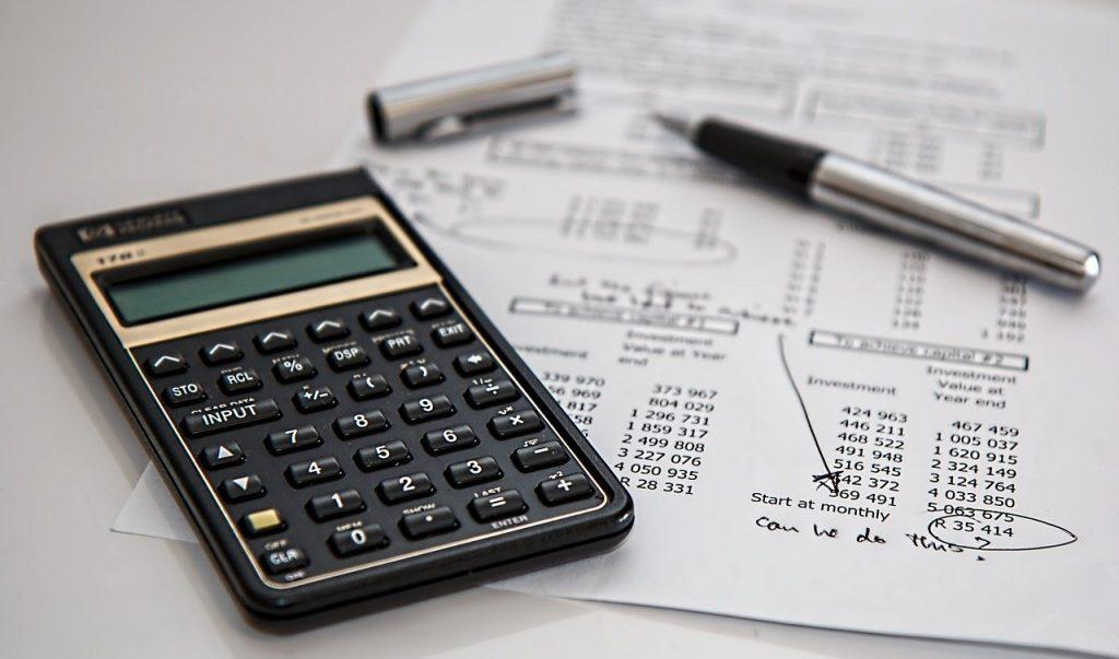 calcolatrice e documenti